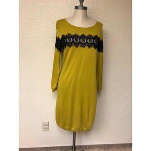 Bar lll Lace Mustard Dress